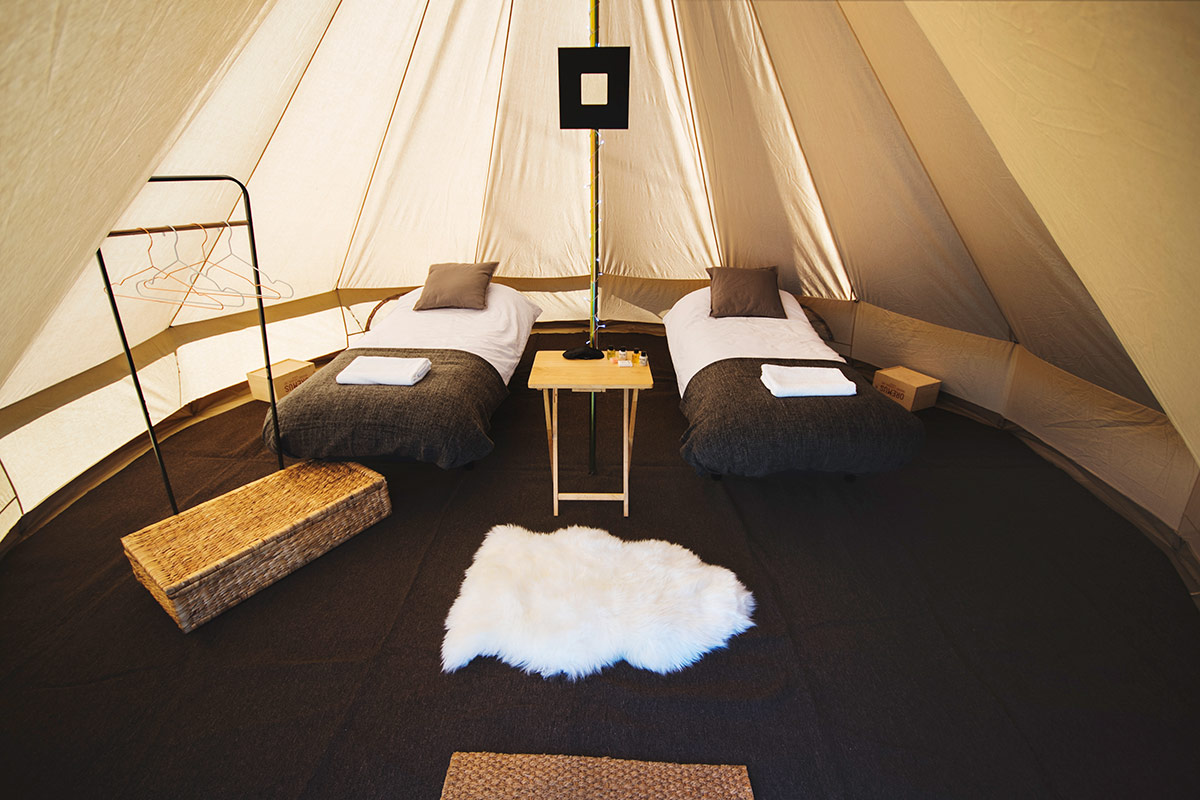 Garden Glamping Luxury 2 Person Bell Tent